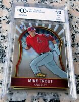 MIKE TROUT 2011 Topps Finest Rookie Card RC Logo BGS BCCG 10 Angels $ ROY AS MVP
