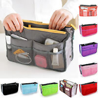 Women Organizer Handbag Travel Bag Insert Liner Purse Organiser Pouch Lady Bag T