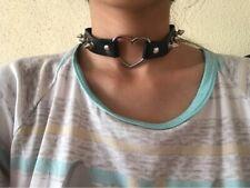 Spiked Heart Choker Studded Goth Punk Collar Women Accessories Girls Jewelry
