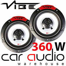 "VIBE PULSE 6 2 Way 360 Watts a Pair 6.5"" 17cm 165mm Car Van Door Shelf Speakers"