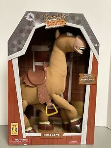 "Disney Store - Toy Story 18"" Interactive Bullseye Plush - Galloping Sounds - NEW"