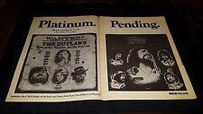 Waylon Jennings Rare Original RCA Records Promo Poster Ad Framed!