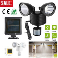 22 LED Dual Security Detector Solar Light 500lm Motion Sensor Outdoor Floodlight