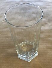 "Clear Glass Cup 6"" Tall"