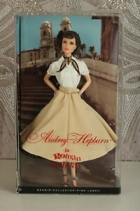 NRFB BARBIE DOLL AUDREY HEPBURN  IN 'ROMAN HOLIDAY' 2013-PINK LABEL X8260