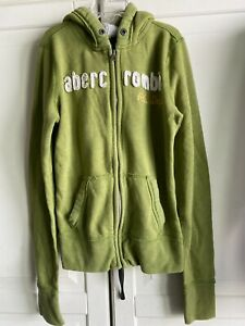 Abercrombie Kids Green Zip-Up Hoodie Boy Or Girl Size Large