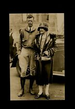 "Original Vintage Photo card - 1920s 3/5""x5.5"" M/M Charles Lindbergh Glossy Photo"