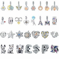 925 Sterling Silver Charms Beads DIY Pendant 925 On Jewelry Fit 925 Silver Chain