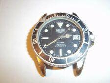 RARE Vintage Heuer 980.053 Black Professional Dive Watch Mens Sport 200 Metres