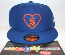 New Era Supreme New York Heart Blue Orange Sz 7 5/8 Fitted Cap Hat FW17H105 New