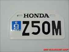 HONDA Z50M Z50 M MONKEYBIKE MINIBIKE  JAPANESE LICENSE PLATE   ( 210mm x 105mm )