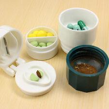 Plastic Layers Pill Crusher Grinder Splitter Tablet Divider Cutter Storage Case