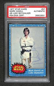 """Mark Hamill """"Luke"""" 1977 TOPPS STAR WARS Signed Autographed Rookie Card (RC) PSA"""
