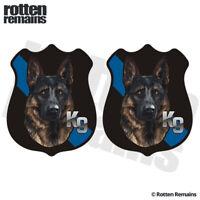 Police K9 German Shepherd Decal Sticker SET K-9 Dog Thin Blue Line feb