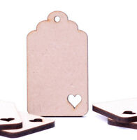Wooden MDF Luggage Gift Tags Jar Labels Label Tag Curved Wedding tags with Heart