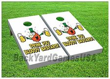 Cornhole Beanbag Toss Game Drink You Bloody Bastard w Bags Game Board Set 499