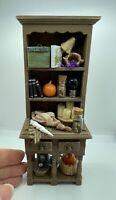 Dolls House Fully Stocked Witches Kitchen Dresser Merrily's Magical Miniatures