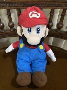 "Rare Super Mario Party 5 Sanei Japan 2003 Hudson 13"" M Size Plush luigi"