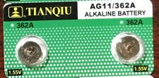 2 X AG11 LR721 362 SR721 LR58 SR58 SR721W 1.55V Alkaline Cell Button Battery