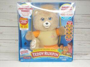 Teddy Ruxpin Animated Talking Storytime Bear Bluetooth LCD Eyes 2017 - BRAND NEW