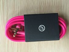 NEW - V2 Remote Mic Control Talk Cable Wire 3.5mm Jack For Beats dr dre - Pink