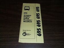 FEBRUARY 1981 CHICAGO RTA ROUTE 695 ARLINGTON HEIGHTS BUS SCHEDULE