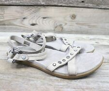 UGG Australia Womens Soft Suede and Studded Grey Strappy Sandals US 7 NEW!