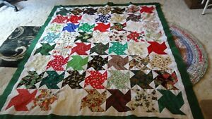 Xmas Quilt top Unfished 68 x 77