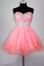 Women's SHORT Embroidery Rhinestones beaded homecoming Party prom dress $169
