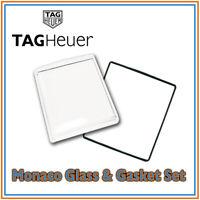 • TAG Heuer Monaco Acrylic Glass Crystal & Gasket Set High Quality Swiss Made •