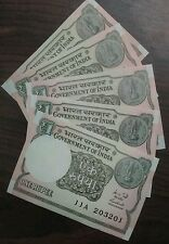5 Notes - 2015 Issue  ONE Rupee India Bank Notes - UNC #us - FREE SHIPPING