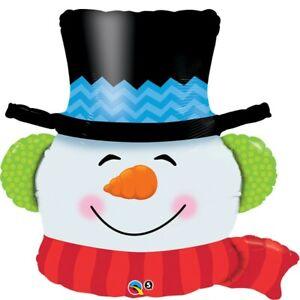 Smiling Snowman Shaped 36 Inch Qualatex Supershape Foil Balloon