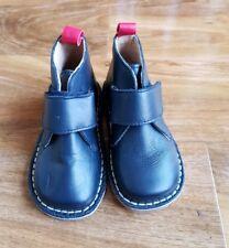 Mini Boden Boys Leather Hi Tops Navy Boots Shoes EU 24 UK 7. BRAND NEW