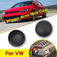 2x Front Windscreen Wiper Arm Nut Cover Cap Bolt For VW Passat Golf Polo Jetta