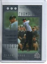 2001 SP AUTHENTIC TIGER WOODS FOCUS ON A CHAMPIONSHIP #FC6