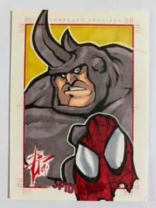 2009 Marvel Spider-Man Archives SketchaFEX Artist Sketch card by unknown artist