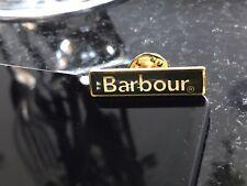 Barbour NEW Pin Badge Gold & Green Metal Coat, Jacket, Bag Etc