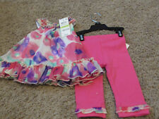 First Impressions Girl's 2-Piece Short-Sleeve blouse Top & Leggings 3-6