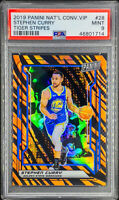 Stephen Curry 2019-20 Panini National Convention VIP Tiger Stripes Prizm PSA 9