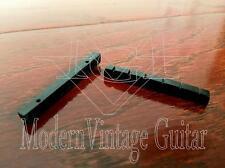 """2 Modern Vintage Guitar BLACK Slotted Resin Nuts  42mm  1 5/8"""" - 1 1/16"""" Neck"""