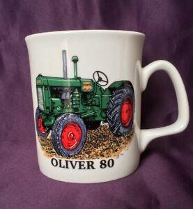 Bone China Mug Oliver 80 Tractor Mug Hand Decorated in Wales Gift