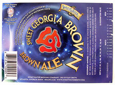 Sweeer Brew Sweet Georgia Brown Beer Label Ga 12oz Var 3 Gabf 2002