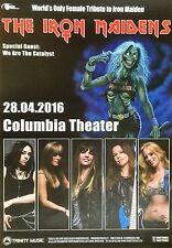 THE IRON MAIDENS 2016 BERLIN - orig.Concert Poster - Konzert Plakat  NEU