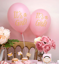 It's A Girl! Pink Balloons x 8 - BABY SHOWER DECORATION