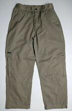 Wear First Mens Cargo Camping Hiking Pants  32/30 Sand Khaki  Many Pockets
