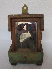 Vintage Handcrafted Mirror Wooden Box Old Collectible