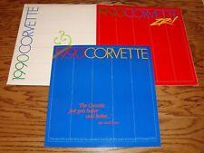 1990 Chevrolet Corvette & ZR-1 Deluxe Sales Brochure Lot w/Envelope 90 Chevy