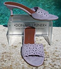 Donald Pliner Couture Nubuck Leather Shoe New Size 8 Perforated Detail $265 NIB