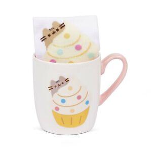 Official Pusheen the Cat Cupcake Mug and Sock Gift Set Cup