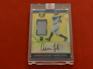 2017 AARON JUDGE PANINI GOLD STANDARD ROOKIE #32 SEALED #095/199 PATCH AUTO
